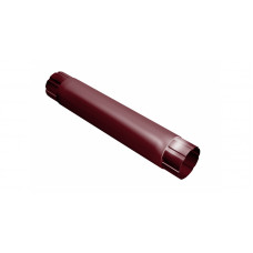 Труба круглая соединит.,90мм 1м RAL 3005 красное вино