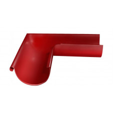 Угол желоба внешний, 90 гр,125 мм RAL 3011 коричнево-красный