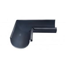 Угол желоба внутренний, 90 гр,125 мм RAL 7024 мокрый асфальт
