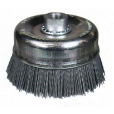 Щетка-чашка Д100 М14 полимер-абразив, ворс плоский, железный корпус, Р80 (код 192)