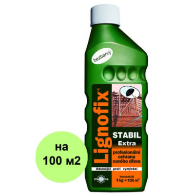 Антисептик Lignofix Stabil Extra - бесцветный, концентрат, 1 кг