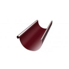 Желоб полукруглый, 125 мм, 3 м, RAL 3005 красное вино