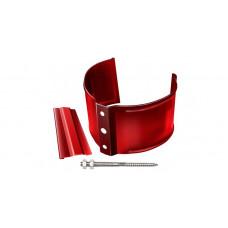 Кронштейн трубы на кирпич, 90мм RAL 3011 коричнево-красный