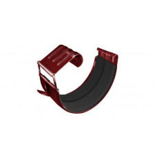 Соединитель желоба GL 125 мм RAL 3011 коричнево-красный