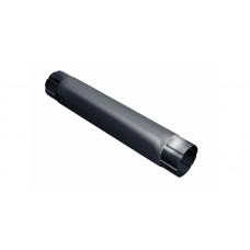 Труба круглая соединит.,90мм 1м RAL 7024 мокрый асфальт