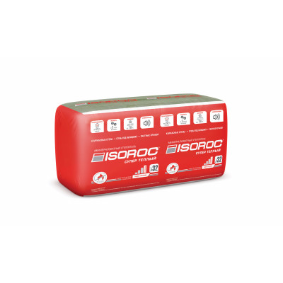 Тепло-звукоизоляция ISOROC Супер теплый 10/50*610*1000/6,1м2/0,31м3