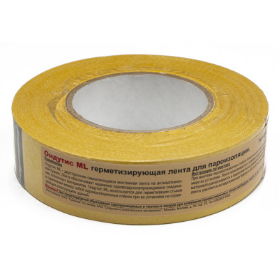 Ондутис ML - монтажная лента для герметичного соединения пароизоляции 38мм*50пог.м.