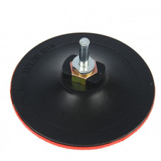 Тарелка MATRIX пластиковая с липучкой для УШМ 125 мм М14, усиленная из TPU (тонкая)